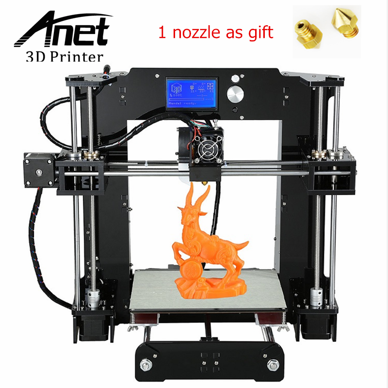 ANET A6 3D Printer Upgraded High Precision 3D Printer Easy Assembly Prusa i3 3D printer ABS/PLA Filament 16GB SD Card LCD screen