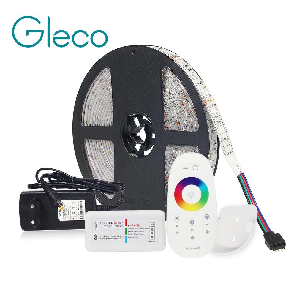 LED STRIP Kit DC12V LED Strip 5050 60LED/m 5M with 2.4G RF LED Controller 12V Power Supply 5050 LED Strip RGB RGBW RGBWW CWW