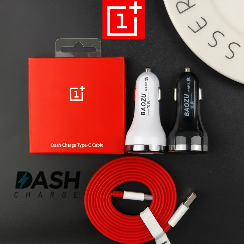 DASH Car charger 5V/4A Dual USB Ports Quick Fast Car Charger &Oneplus 6 5t 5 t dash Charge cable For One Plus 3 3t mobile phones