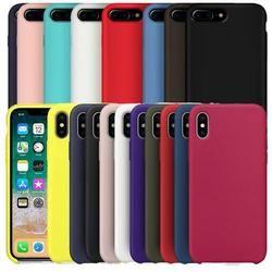 Ont LE LOGO D'origine Étui En Silicone Pour iphone 7 Pour Apple cas Pour iPhone 8 Plus La Couverture Pour iPhone X 6 6 S Plus la Boîte de Détail