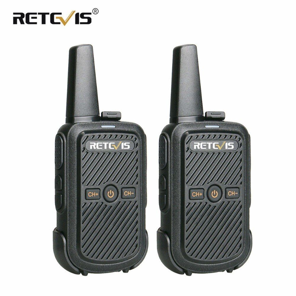 2pcs Retevis RT15 Mini Walkie Talkie Portable Two Way Radio 2W UHF VOX Scrambler USB Charge Hf Transceiver Hotel/Restaurant/KTV
