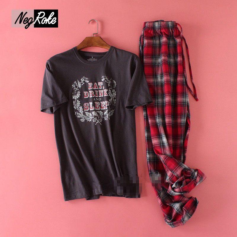 Plus la Taille 100 kg 100% coton à manches courtes pyjamas hommes d'été à la maison Simple casual hommes Vêtements De Nuit pijamas pyjamas ensembles pour mâle