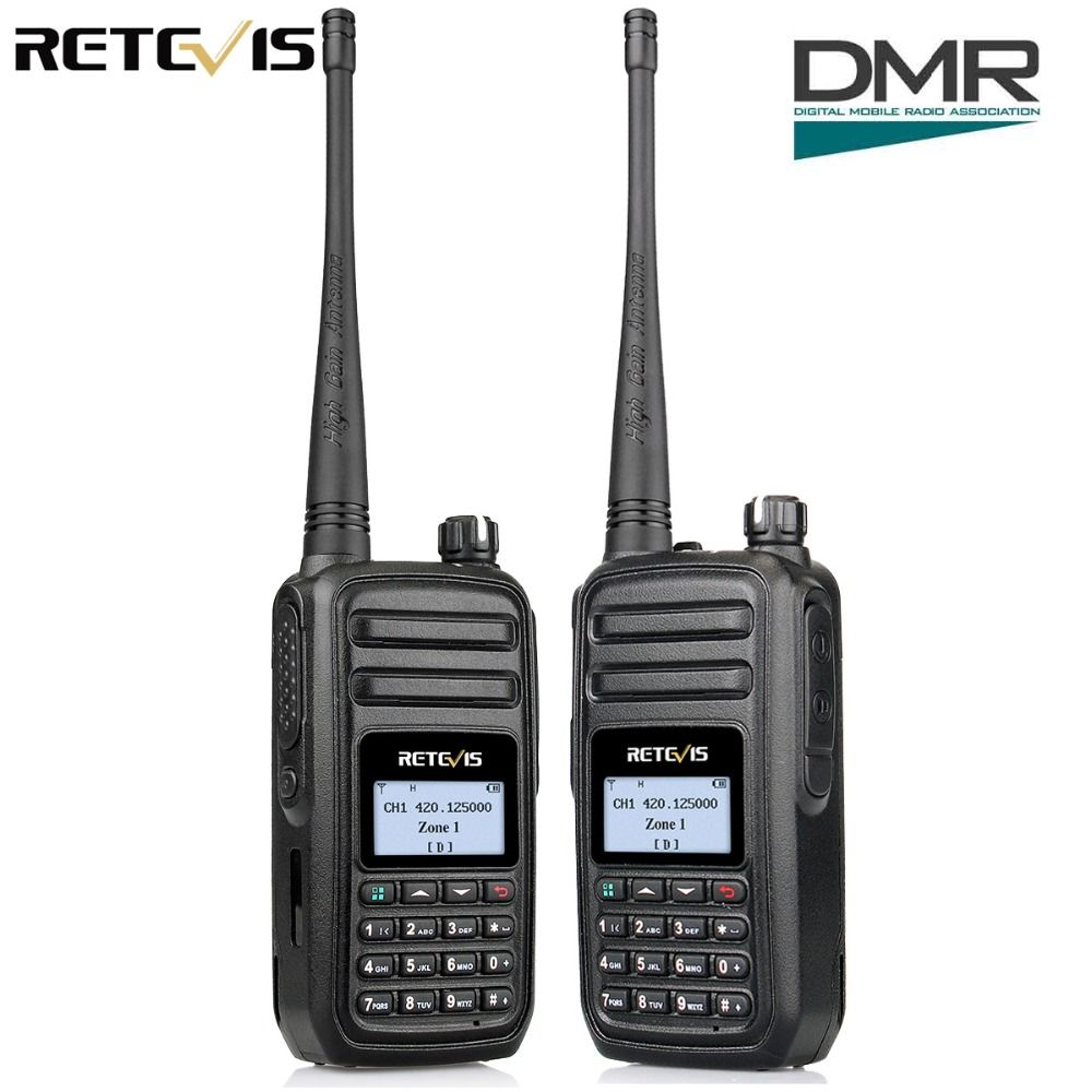 2pcs Retevis RT80 DMR Radio Digital Walkie Talkie UHF 400-480MHz 5W Digital Mobile Radio VOX Alarm Ham Radio Hf Transceiver