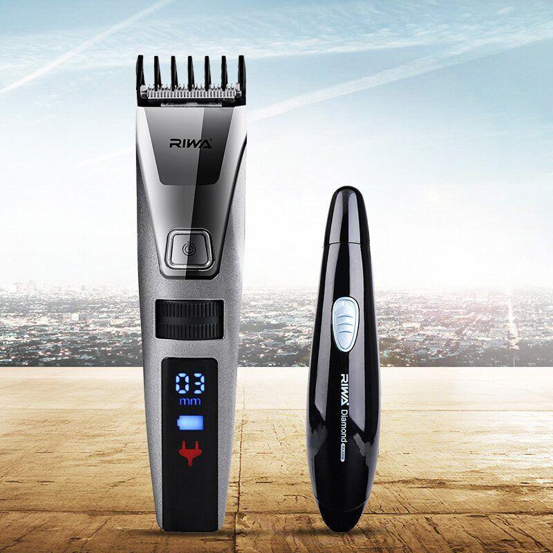 Étanche Électrique Cheveux Clipper Rasoir LCD Affichage Hommes Rasoir Cheveux Tondeuse + 2 En 1 Nez Cheveux Trimère Rasoir Lame pattes Rasoir