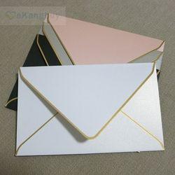 25 pcs 175x110mm Or Estampage Enveloppes De Mariage D'affaires Invitation Enveloppes
