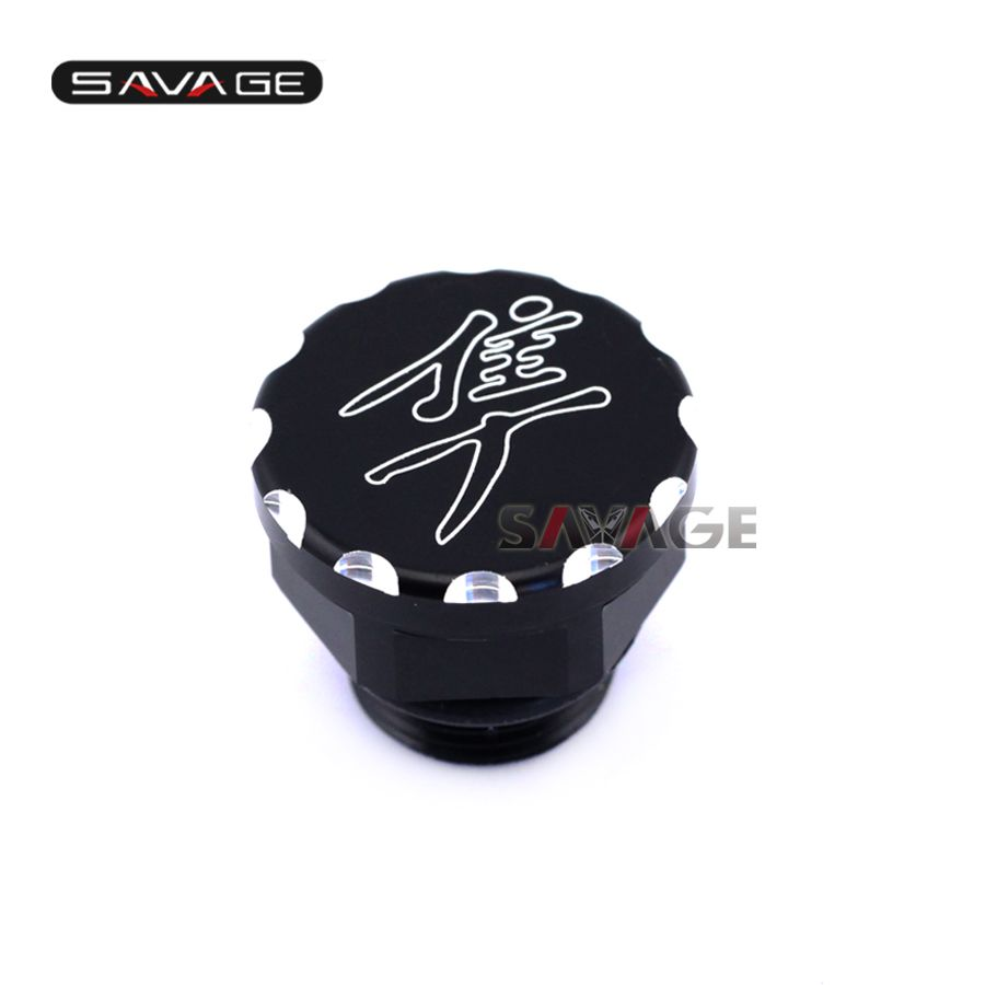 For SUZUKI HAYABUSA GSX1300R 1999-2016 Black Motorcycle Accessories Aluminum Engine Oil Filler Cover Cap Screw