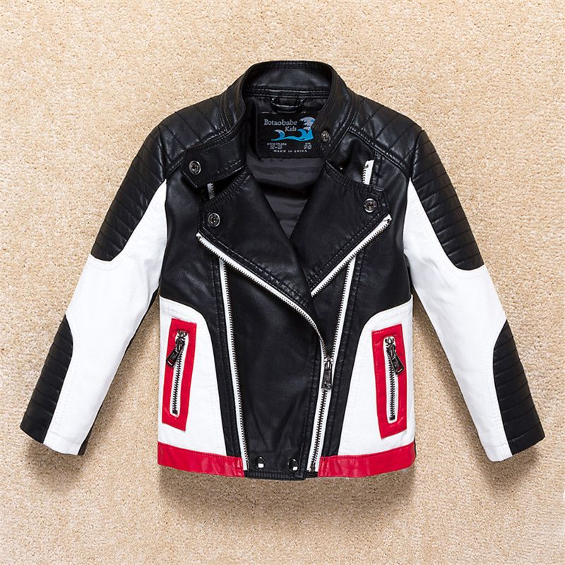 Jackets For Boys 2018 Fall Fashion Brand Leather Jacket Children Winter Girls Outerwear Coats Infant Kids Long Sleeve Coat