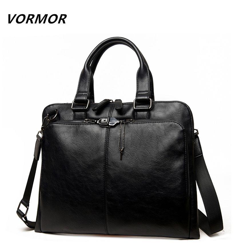 VORMOR Brand Men bag Casual men's briefcase shoulder Bags Laptop crossbody messenger bag men leather men's travel bags 2018