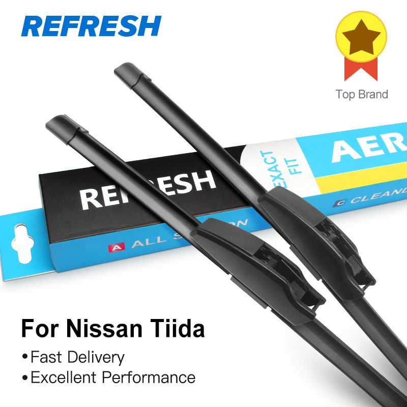 REFRESH Wiper Blades for Nissan Tiida C11/ C13 Fit Hook Arms Model Year From 2004 to 2018