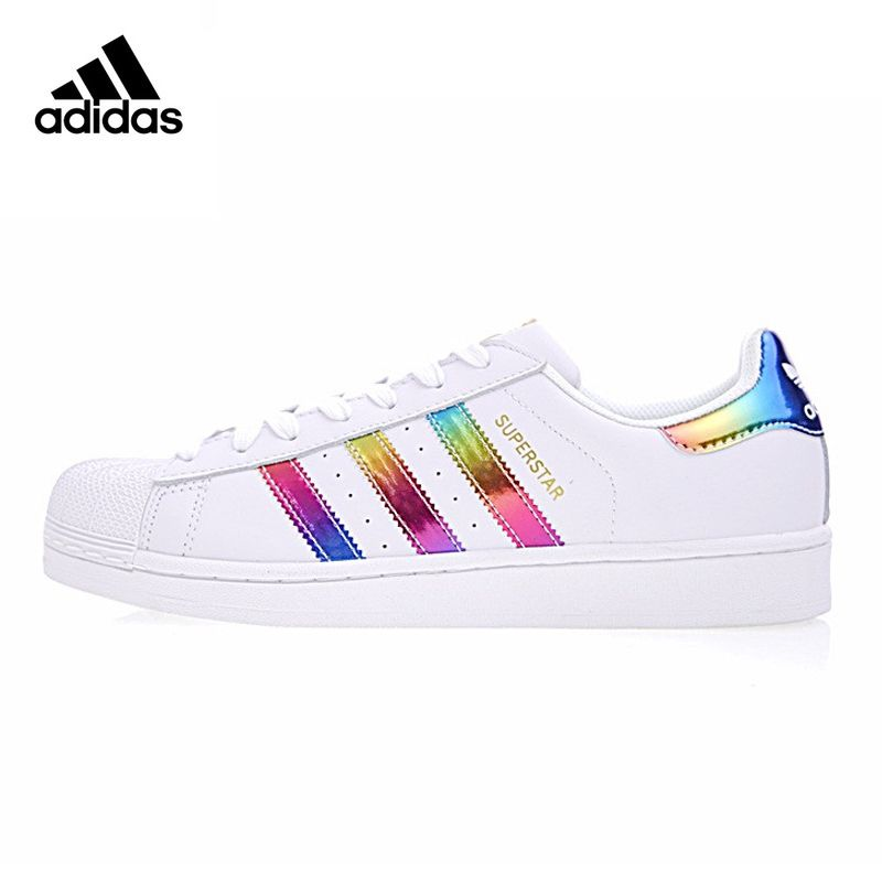 Adidas SUPERSTAR Gold Label, Women's Skateboarding Shoes , Color Red, Non-Slip Lightweight Breathable BB2146 S81015