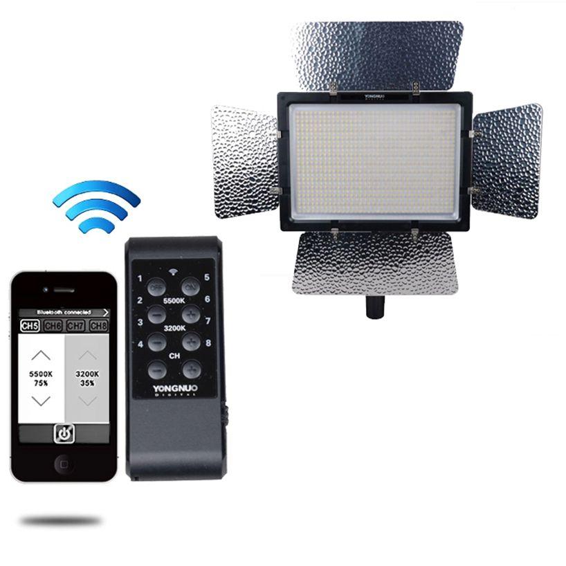 YONGNUO YN900 высокий CRI 95 + Беспроводной 3200 К-5500 К светодиодный видео Панель, YN-900 900 лампы бобы 7200LM 54 Вт