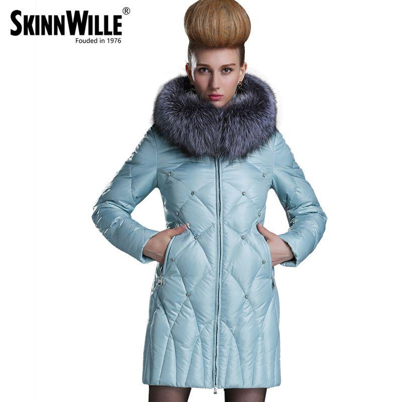 2017 Nuovo Inverno Collezione 2017 Bio Flusen Cappotto di Media Lunghezza cappotto Alla Moda delle Donne Giacca Con Cappucc