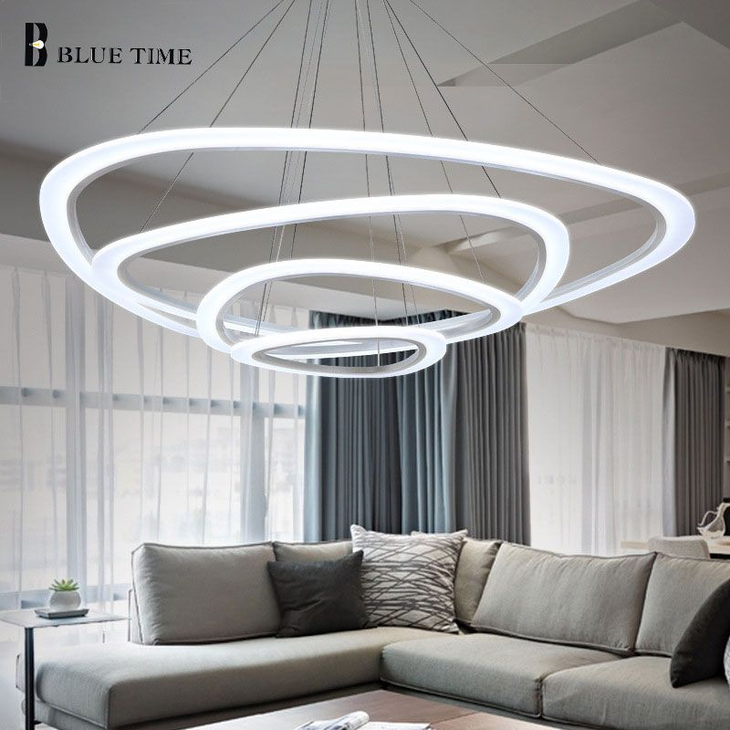 Acrylic Rings Modern Led Pendant Light FOR Dining room Living room Lamparas de techo Indoor Home LED Pendant Lamp Hanging Lamp