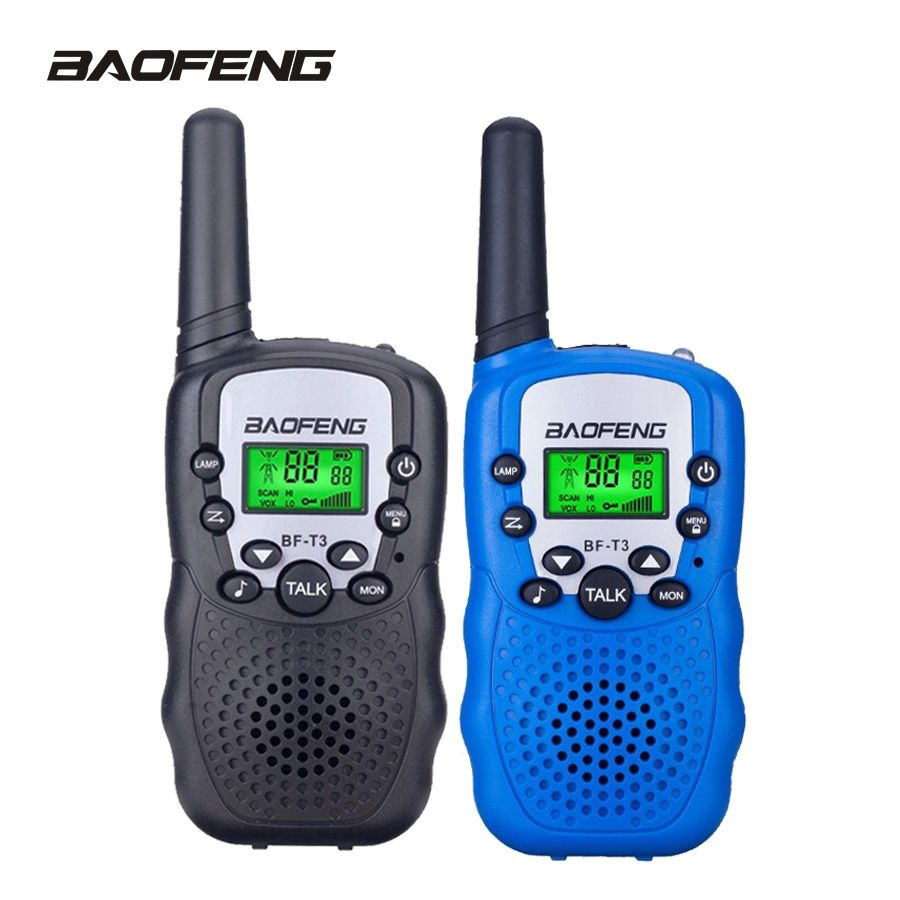 2PCS BaoFeng Walkie Talkie Children Mini Kids Radio BF-T3 2W UHF462-467(MHz) two way radio Portable Transceiver radio Kids gift