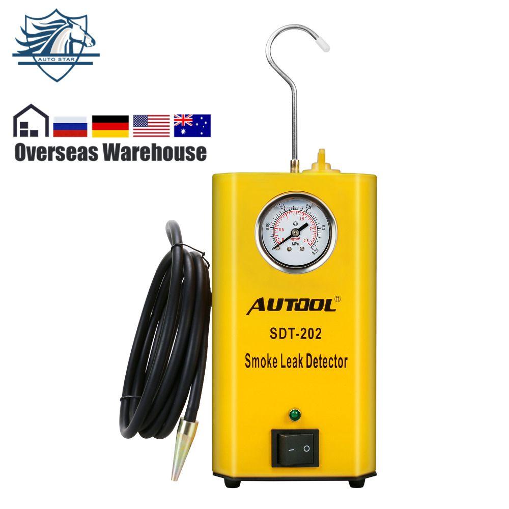 Autool SDT-202 Car Smoke Machine Auto Leak Tester EVAP Adapter & Smoke Tips. Tests EVAP, Intake, Exhaust, Vacuum Line