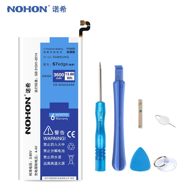 Original NOHON EB-BG935ABE Battery For Samsung Galaxy S7 edge G9350 G935 G935F G935FD G935W8 S7edge 3600mAh Replacement Bateria