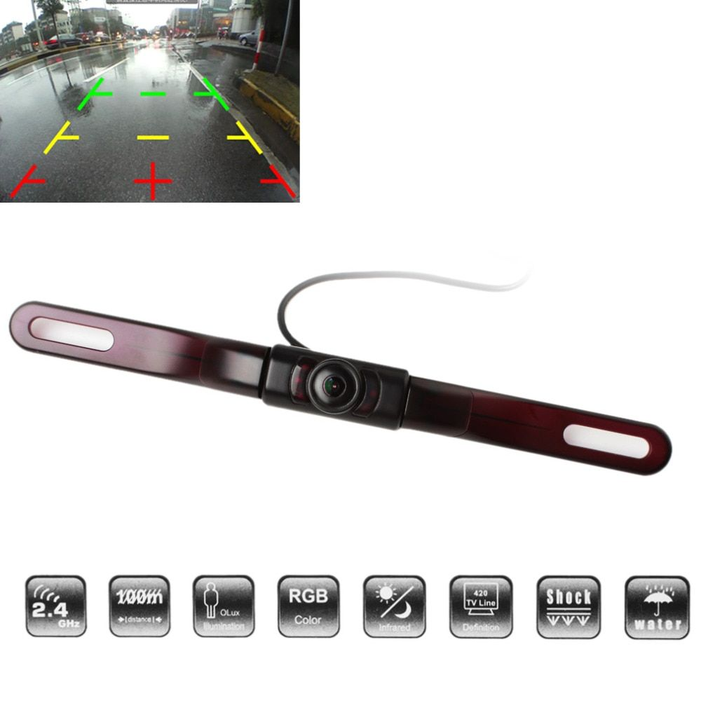 Auto Car Rear View Reverse <font><b>Backup</b></font> Camera 120 Degrees Wide Angle 500TVL Anti-fog Free Opening License Plate Frame Parking Camera