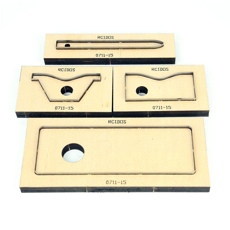 Le poinçon de laser de forme en cuir adapté aux besoins du client par RCIDOS meurent, moule de coupeur de feuille de PVC/EVA de lame en acier du japon, montre à assembler soi-même