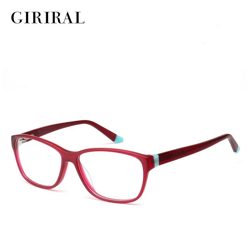 Acetate women glasses frame computer brand designer clear optical myopia spectacles #BC3515