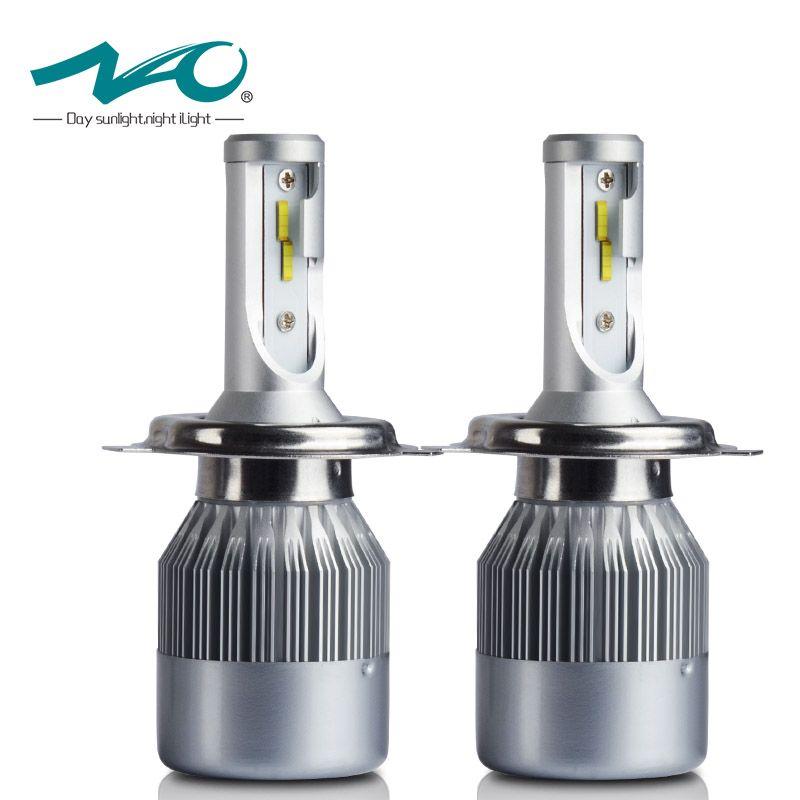 NAO H4 Car led Headlight H7 LED H1 H11 H8 HB3 9005 HB4 9006 72W 7600LM 12V Flip Chip 6000K White Headlamp Replacement Kit C6F