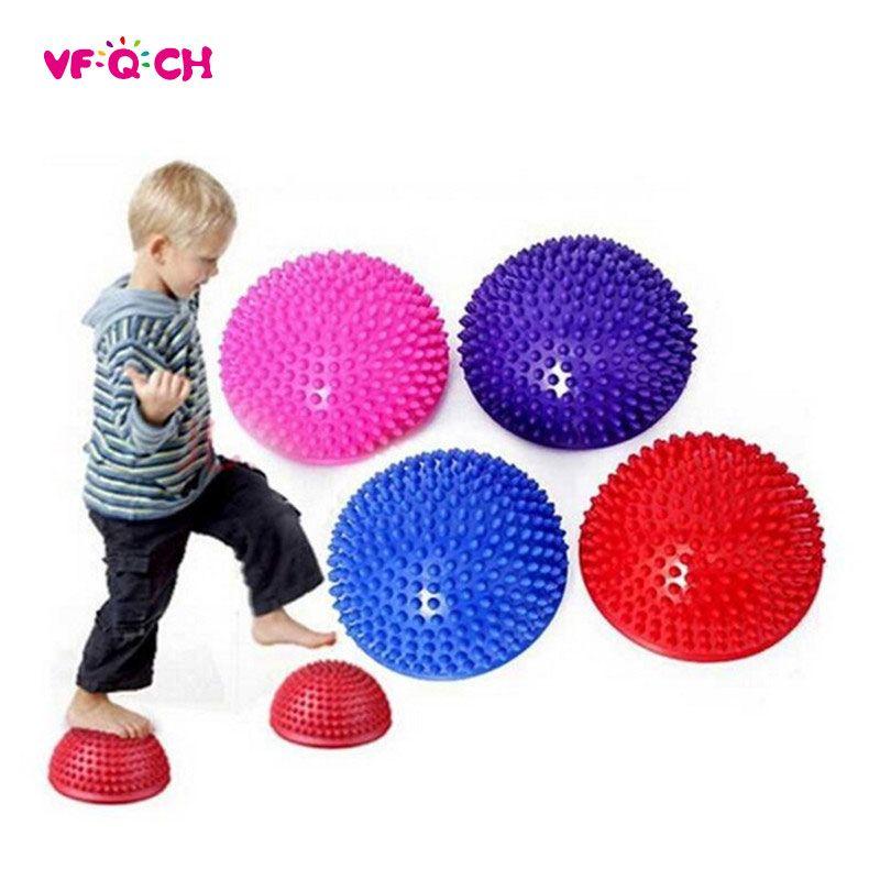 Children's Balance Training Ball Semi-spherical Massage Mat Equipment Outdoor Fitness Yoga Sport Play Durian Ball Kids Toys TX17