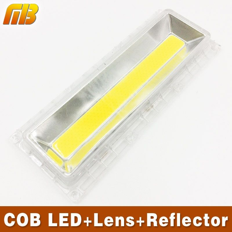 [MingBen] 1 Set COB LED Lamp Beads+Lens Lamps Include: PC Lens+Reflector+Silicone Ring DIY For Flood Light Warm white Cold white