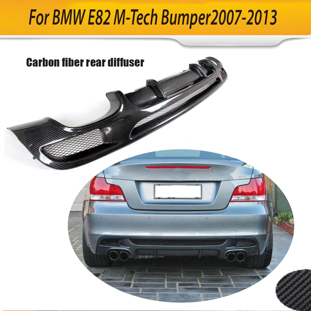 1 Series carbon fiber Car Rear Bumper Lip Spoiler Diffuser for BMW E82 M Sport Sedan Bumper 2007 - 2013 Only Non M Four outlet