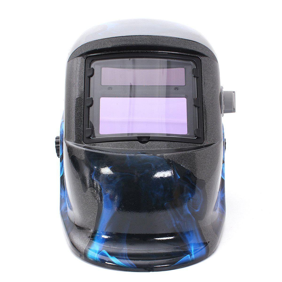 Heißer Verkauf Pro Solar Schweißen Maske Auto Verdunkelung Schweißhelm Blau Schädel Stil ARC TIG MIG Schweißhelm