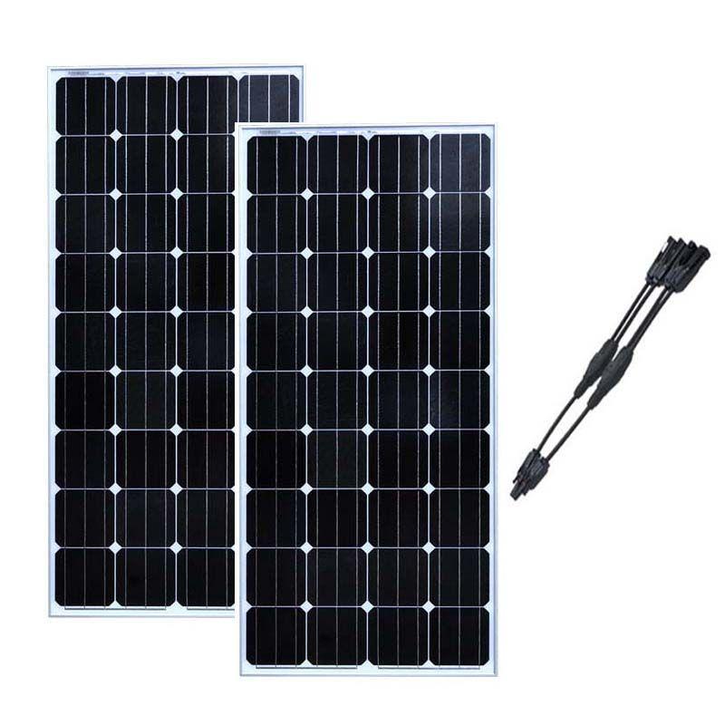 Solar Panel Module 12v 150w Solar Boards 24v 300W Solar Battery Charger Caravan Car RV Motorhome Off Grid System Boat Yachts