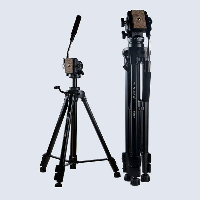 Photo Studio Nouveau Trépied Yunteng VCT-880 En Aluminium Trépied pour Canon Nikon DSLR Camera Support Flexible Photographie Stand Kit