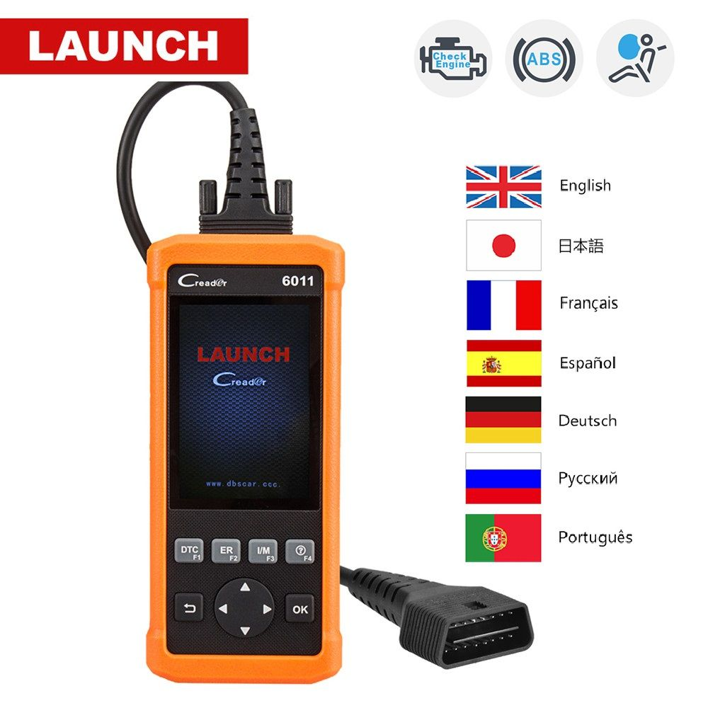 Launch CReader 6011 CR6011 OBD2 Scanner ABS SRS Code Read Auto Diagnostic Tool Car OBD 2 OBDII Automotive Autoscanner PK CR619