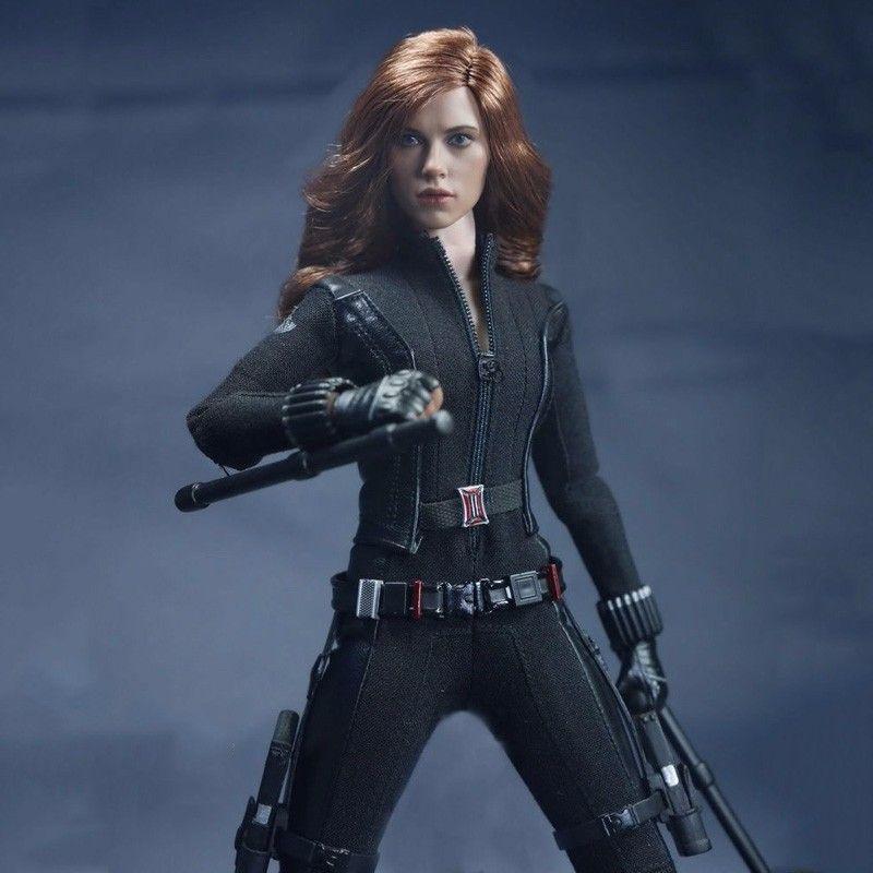 Angepasst SO-Spielzeug SO-T01/SO-T03 1/6 Scarlett Johansson Black Widow Schlacht anzug Kleidung Set Für 12 zoll PH puppe Körper Figur