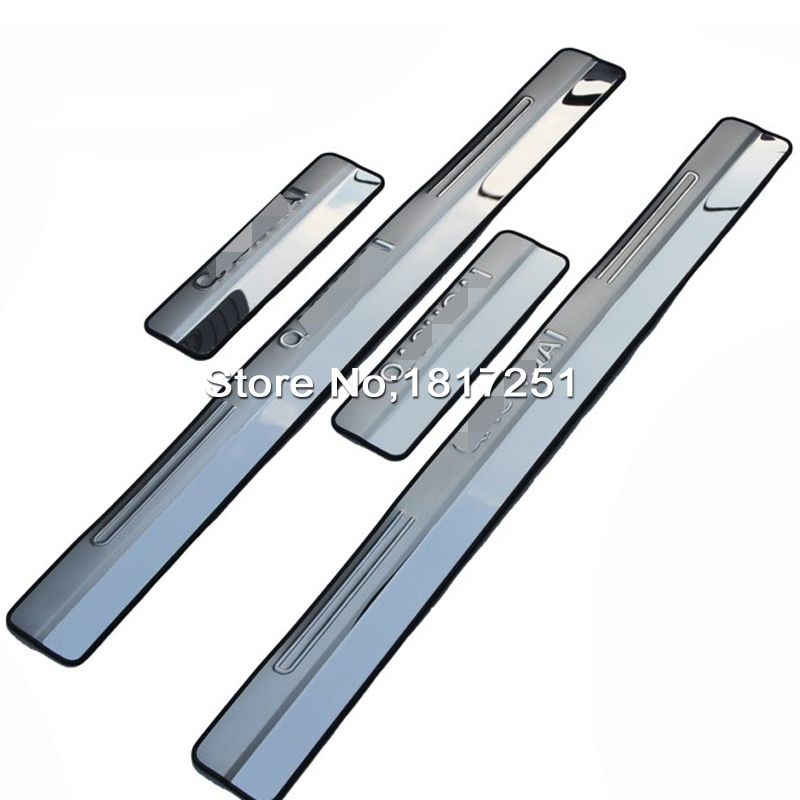 Chrome 4 Door Sill Covers stainless Steel scuff plate guards protection For NISSAN QASHQAI J11 2007-2013 car Accessories