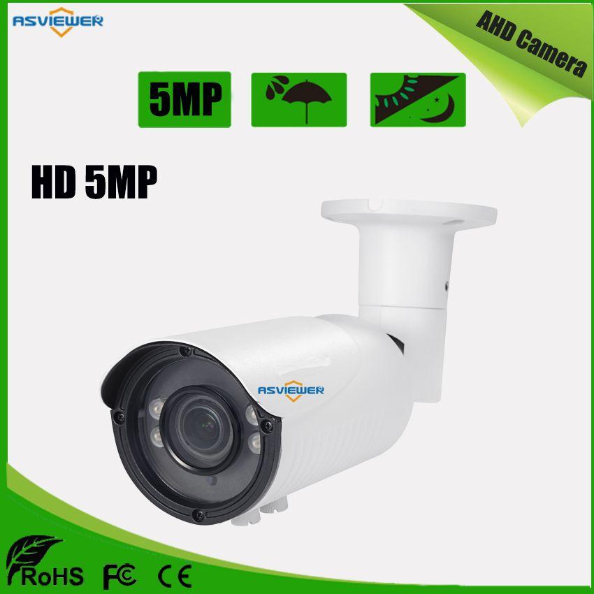 Volle HD 5MP AHD Vario Objektiv 2,8-12mm Metall Kugel Im Freien Wasserdichte Kamera Mit 4 stücke Array LED mit IR-CUT AS-AHD8405H5Y