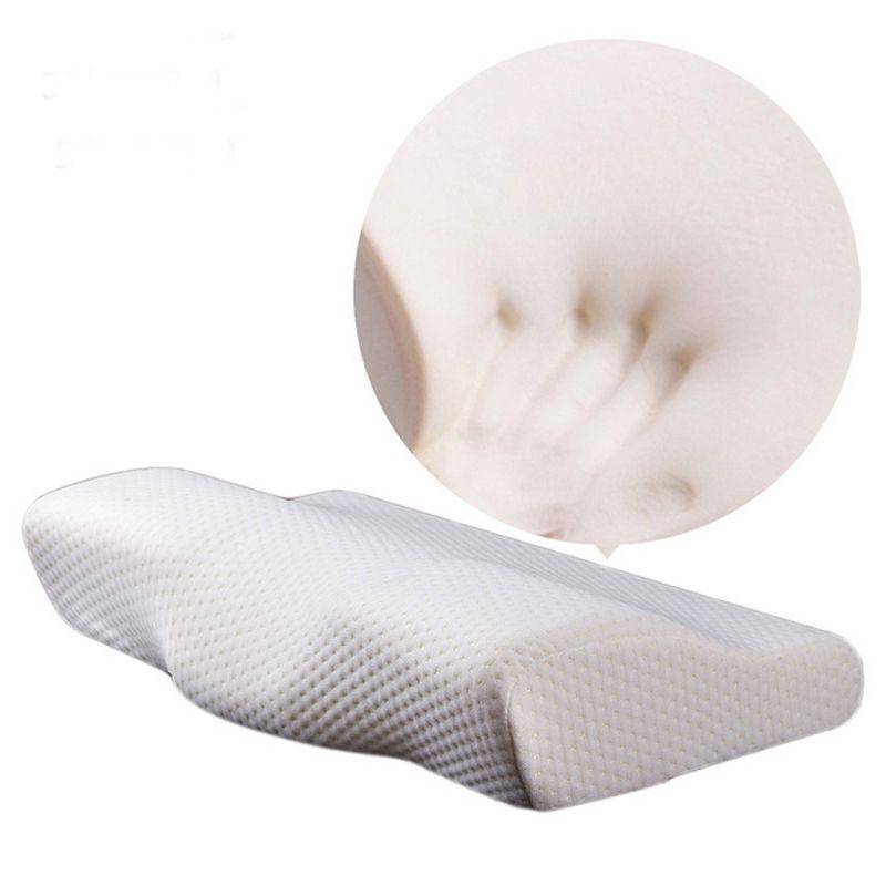 Mousse à mémoire de forme literie oreiller cou protection rebond lent mousse à mémoire de forme papillon oreiller santé cervicale cou taille en 50*30CM