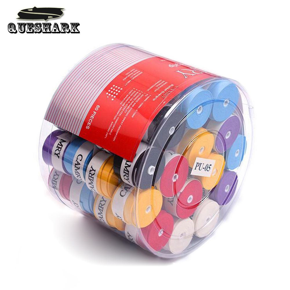 60 Pcs Sports Tennis Racket Overgrips Anti-skid Fishing Rod Badminton Tennis Sweat Absorbed Wraps Tapes Grips Sweatband