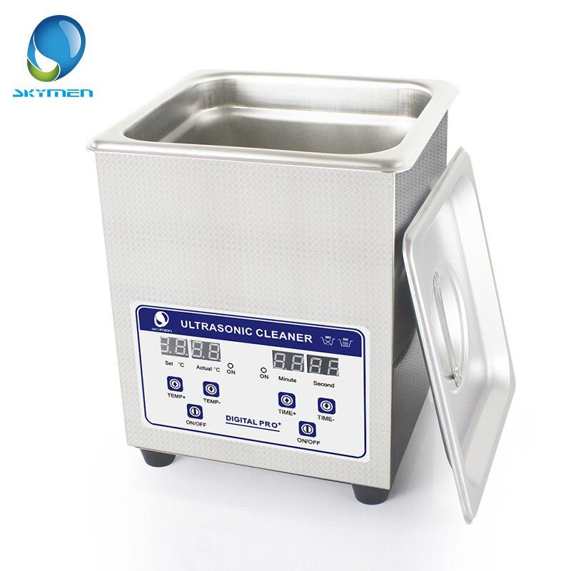 Skymen Digital Ultrasonic Bath Cleaner 2L 60W ultrasonic solution with heater Coins Nail Tool Part Cleaning Machine