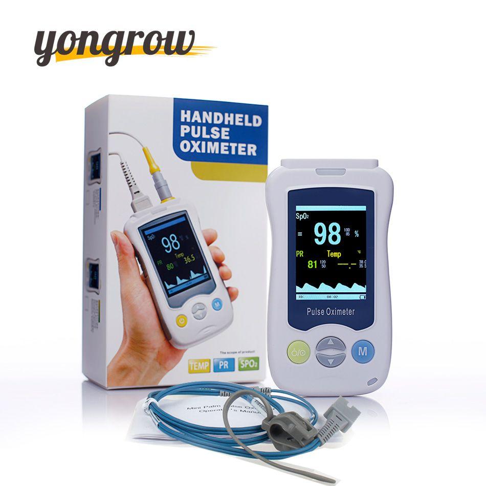 Yongrow Medical Fingertip Oximetro Handheld Pulse Oximeter Mini De Pulso De Dedo Baby Neonatal SPO2 Blood Oxygen Handheld OLED