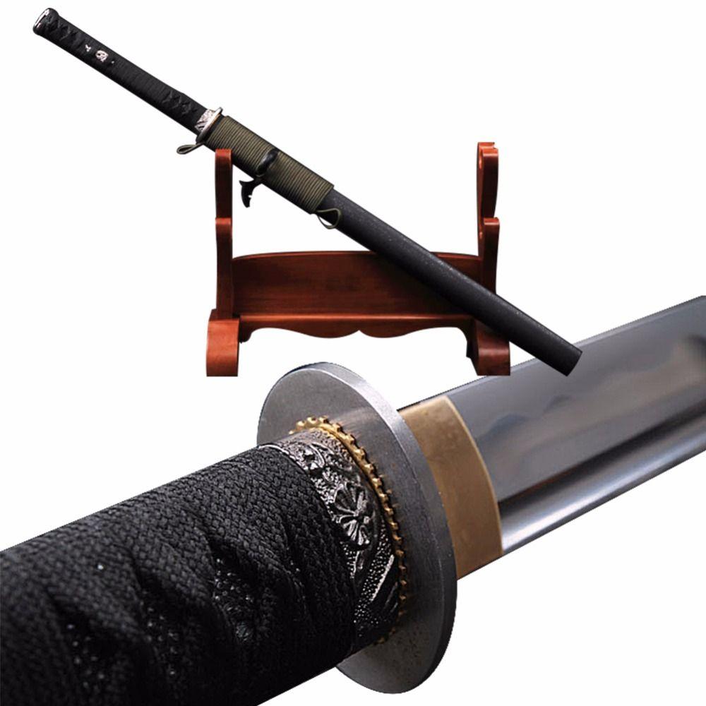 Brandon Schwerter Sharp Japanischen Ninja Schwert 1060 Carbon Stahl Schlacht Bereit Samurai Wakizashi Tamashigiri Messer Schönes Geschenk