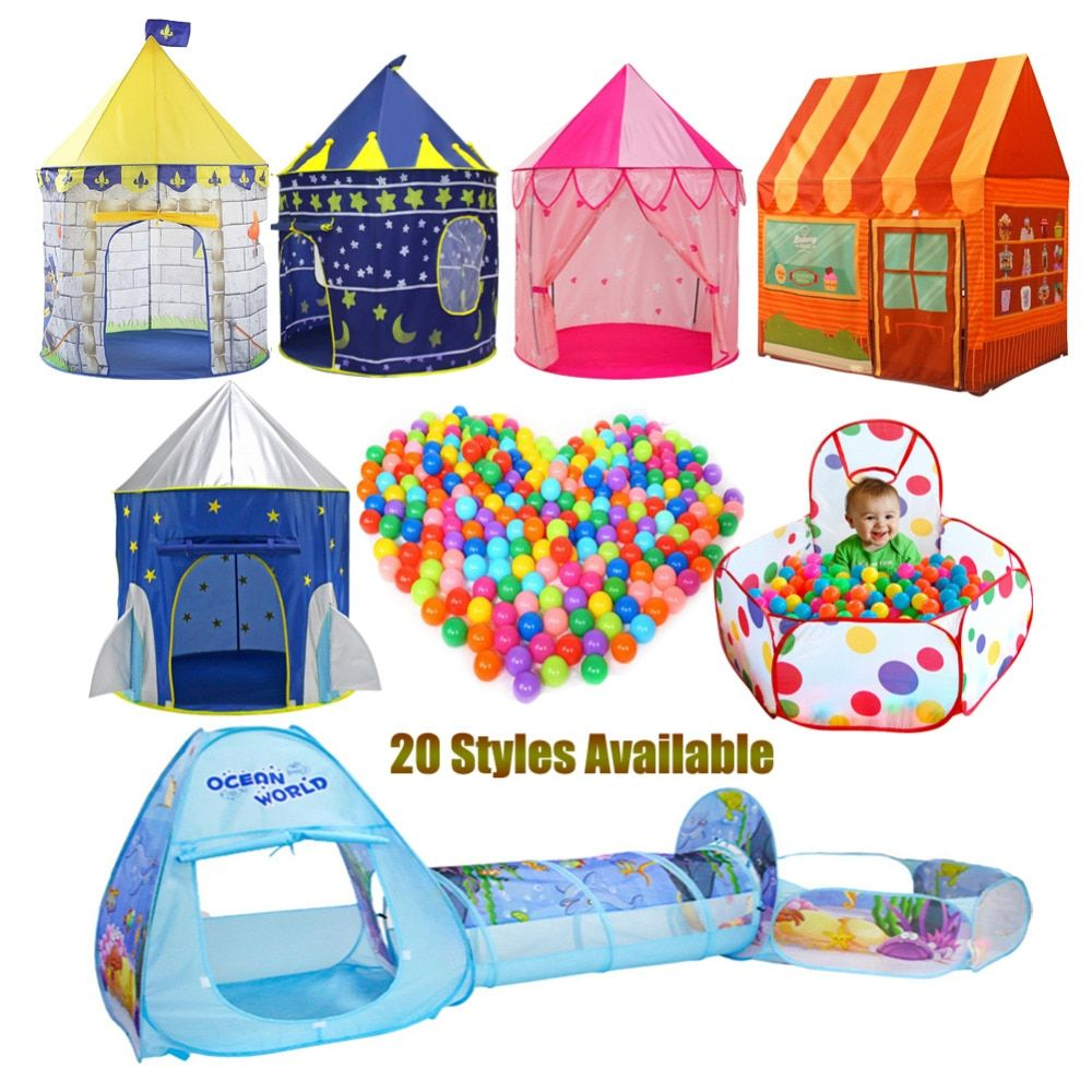 children's tent ball pool Playhouses For Kids Baby Play inflatable pool Folded Portable Kids Outdoor Game in Play tent for kids