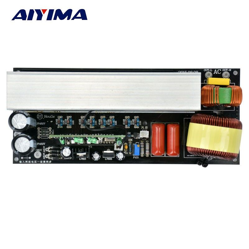AIYIMA 1pcs 3000W Pure Sine Wave Inverter Power Board Post Sine Wave Amplifier Board Modified inverter wave Post stage plate
