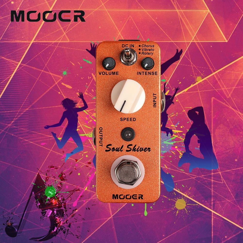 Mooer Multi Modulation Soul Shiver Guitar Effect Pedal True Bypass Classic 60s Sound