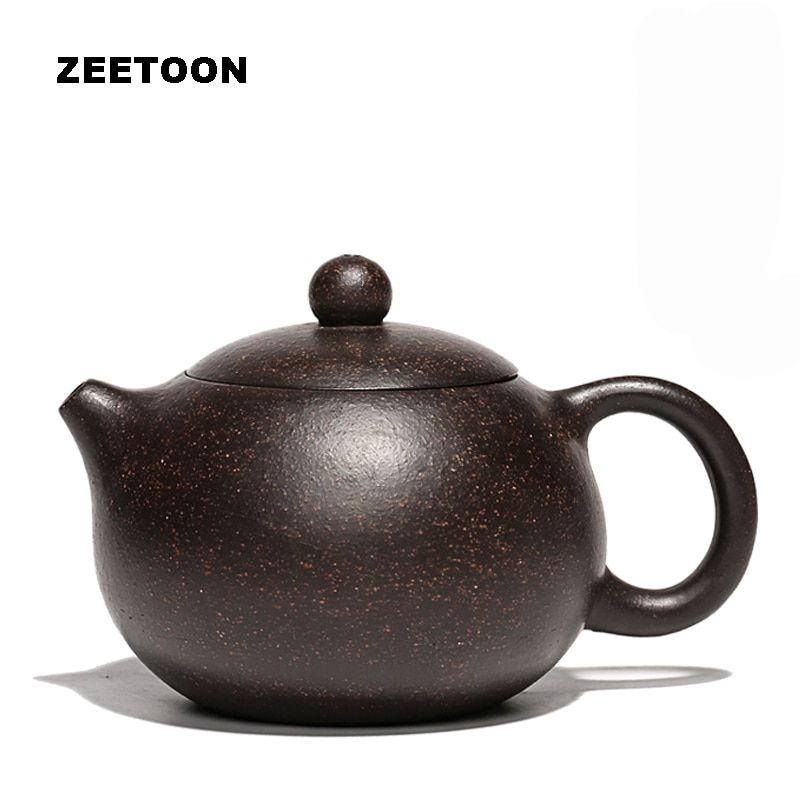 180cc Authentic Yixing Teapot Handmade Xishi Pot Chinese Health Care Purple Clay Ore Black Gold Sand Mud Tea Set Kettle Xi Shi