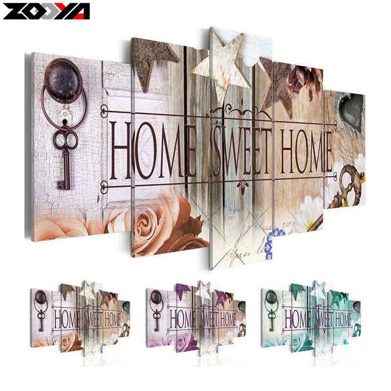 ZOOYA 5d diy Diamond embroidery Home Sweet Home diamond painting Cross Stitch full drill Rhinestone mosaic home decoration