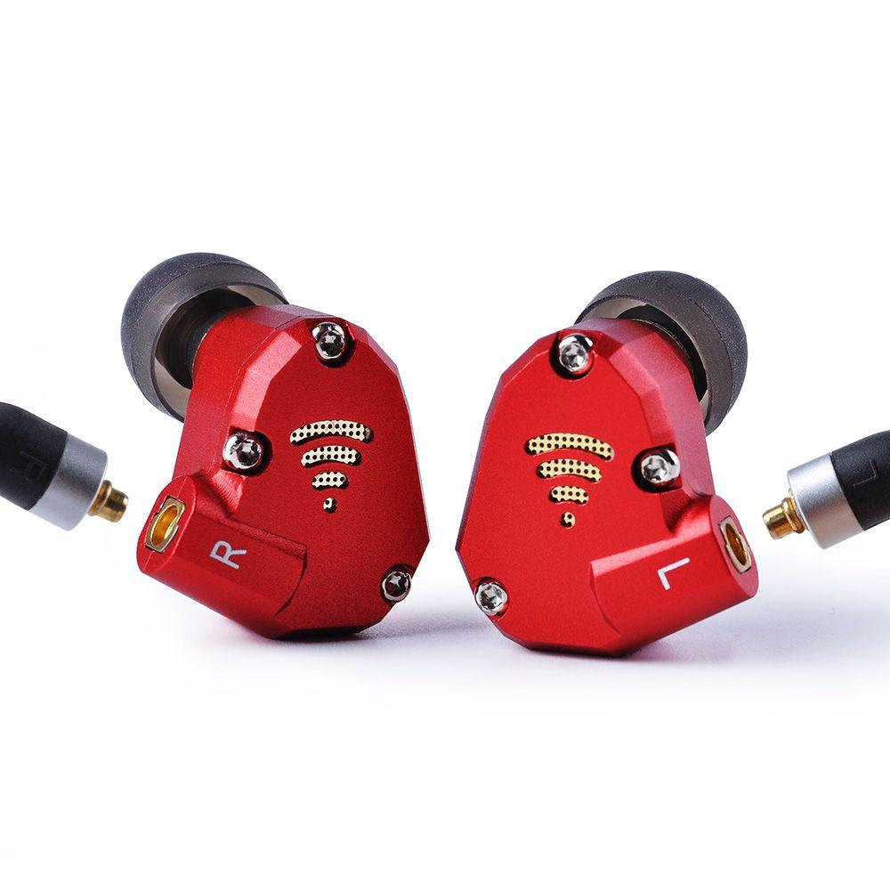 Wooeasy PHB EM-023 2BA+2DD In Ear Earphone Hybrid HIFI Monito Earphone Metal Running Sport Headset Earbud With MMCX Detachable