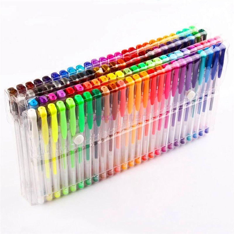 48/60/100/120 couleur Gel stylo Set recharges métallisé Pastel néon paillettes croquis dessin couleur stylo école papeterie marqueur pour enfants