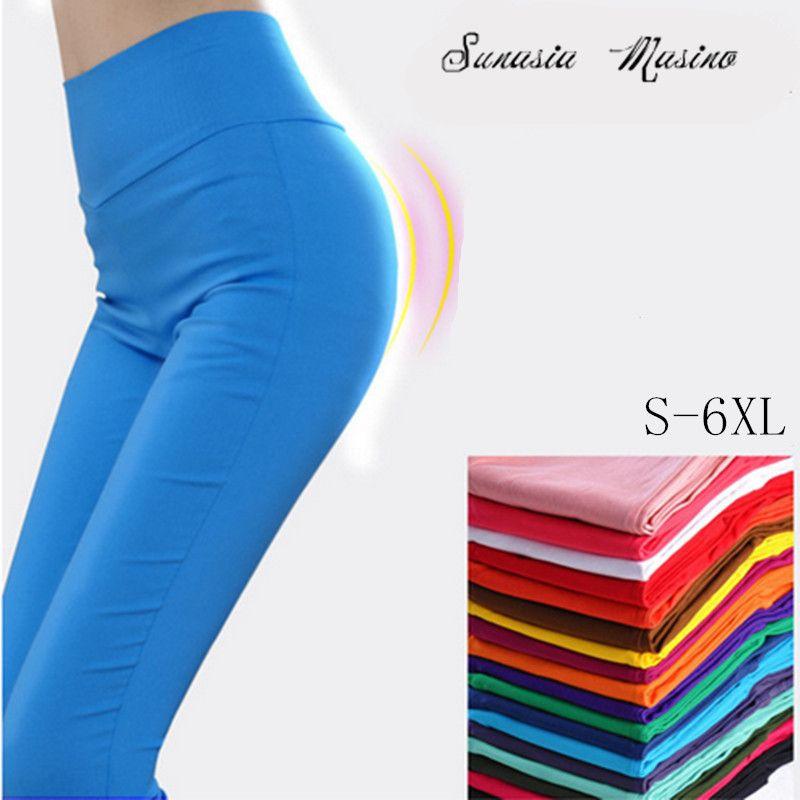 2018 mode Femmes Crayon Pantalon Paige Haute élasticité Coréenne style Loisirs Haute qualité pantalon S-6XL taille