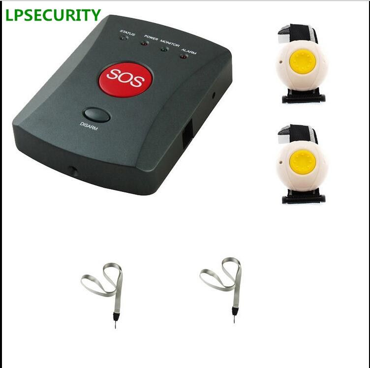 LPSECURITY Wireless GSM SMS SOS Emergency Alarm System 1 to 20 Panic Button elderly/children/handicapped/medical care