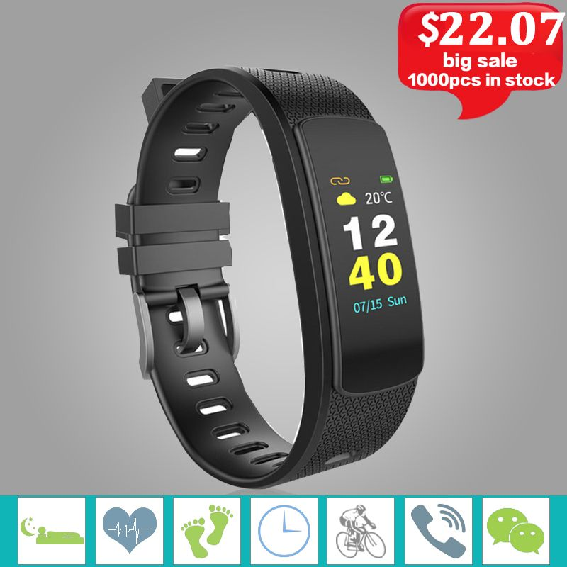 iwown I6 HR C Smart Bracelet Watch Blood Pressure Heart Rate Monitor Smart Wristband Men Women Sport Fitness Tracker.