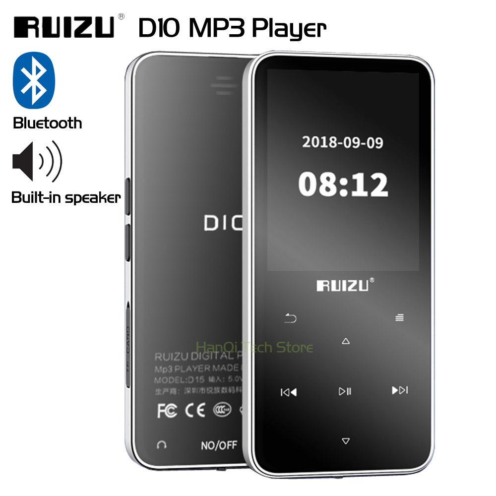 Neue Original RUIZU D10 Bluetooth MP3 Player Verlustfreie HiFi MP3 Musik Player Portable Audio 8 gb Mit Lautsprecher FM Radio e-book Uhr